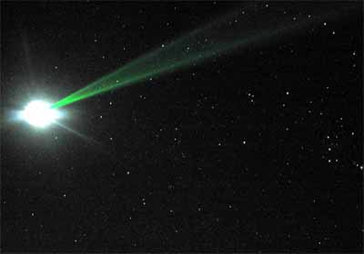 Green laser beam going to the moon. Tom Murphy/APOLLO