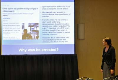 Photo: Presentation on Omid Kokabee