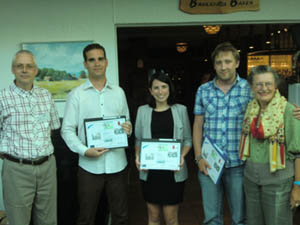 photo of poster prize winners at Ven