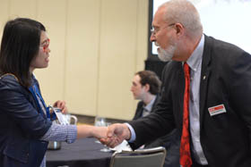 Glenn Boreman at the SPIE DCS 2016 student lunch with experts