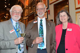 Brian Culshaw, Robert Lieberman, and Maryellen Giger, SPIE DCS 2016 VIP reception