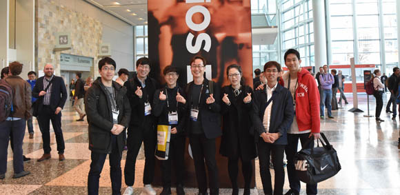 Sunday was another full day at Photonics West, but there is always time for one more photo, as demonstrated by the group above in the lobby of Moscone West.