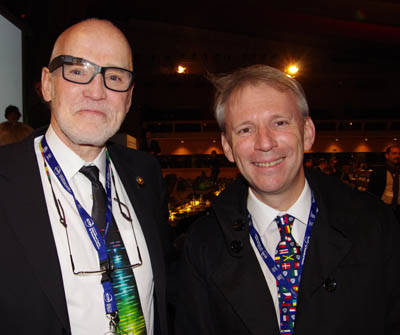 SPIE CEO Eugene Arthurs and Bernard Kress