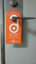 Open Access Week doorhanger; Keita Bando image