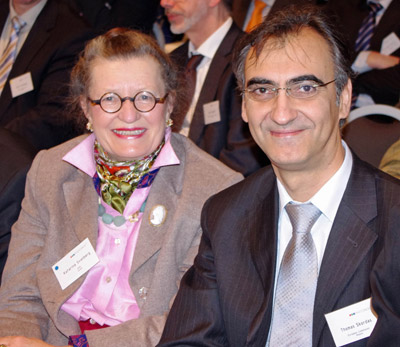 SPIE President Katarina Svanberg and Thomas Skordas, head of the EU Photonics Unit, at the Photonics21 Annual Meeting