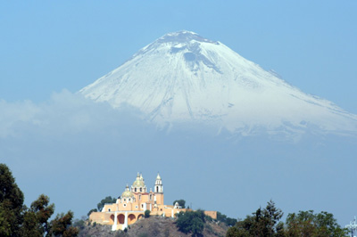 Popocatepetl towers above Puebla, Mexico, site of ICO-22 in August.