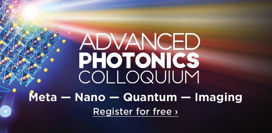 Advanced Photonics event to showcase latest advances in photonics research