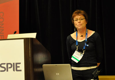 Halina Rubinsztein-Dunlop speaking at the SPIE Fellows luncheon at SPIE Optics + Photonics 2011
