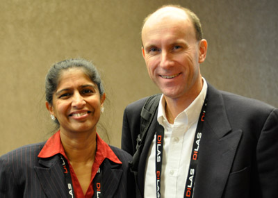 Women in Optics Speaker Dr. Mahadevan-Jansen and Duco Jansen