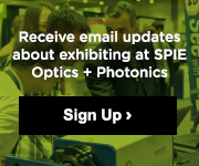 Learn more about exhibiting at SPIE Optics + Photonics