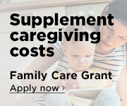 Supplement caregiving costs while you attend the digital forum