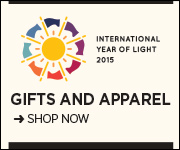 International Year of Light t-shirts, ties, scarves. Shop now.