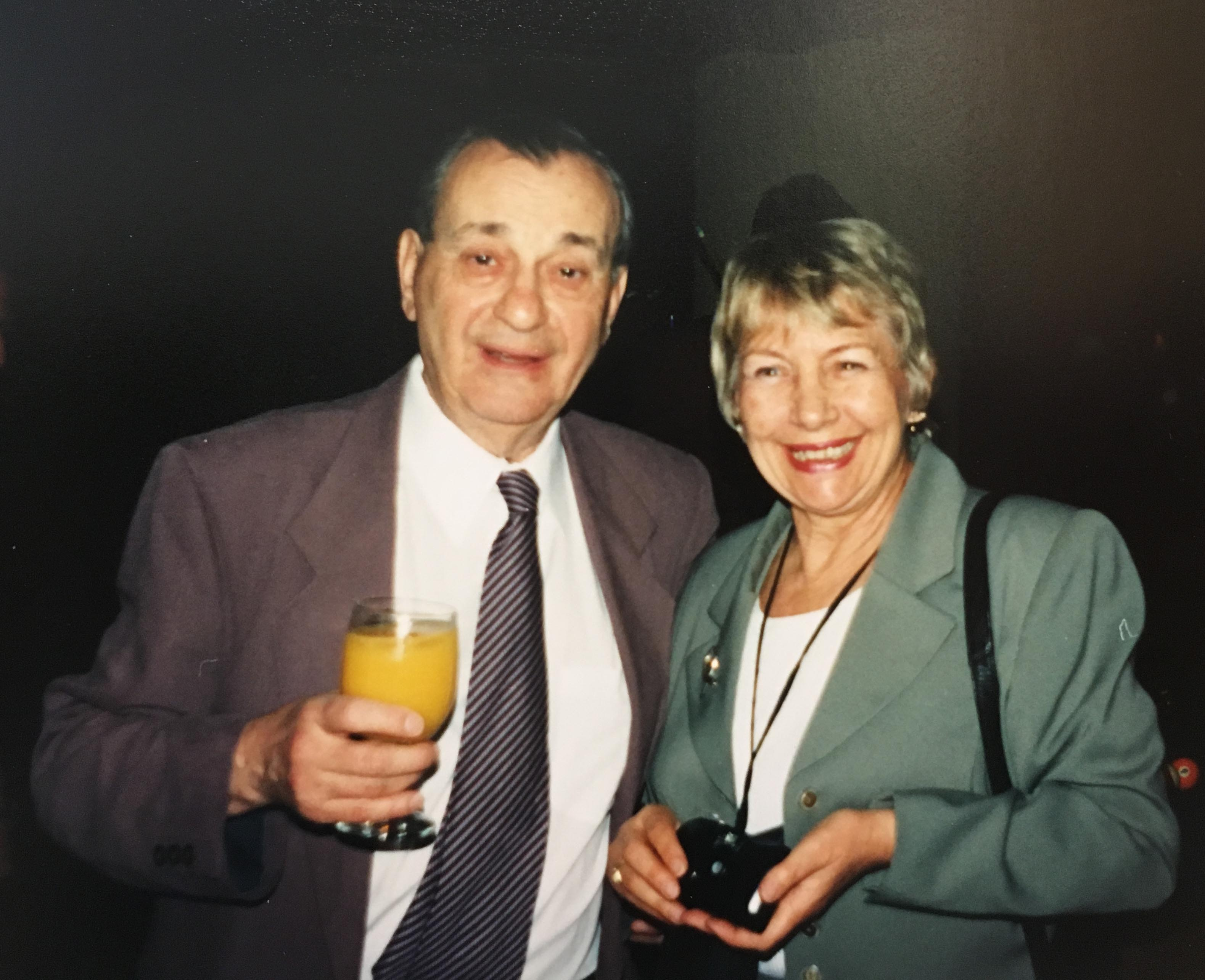 Emil Wolf and his wife, Marlies in 2001
