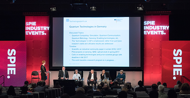 "The panel discussion, ""How Global Investment is Bringing Quantum Technologies to the Marketplace,"" at SPIE Photonics West 2018."