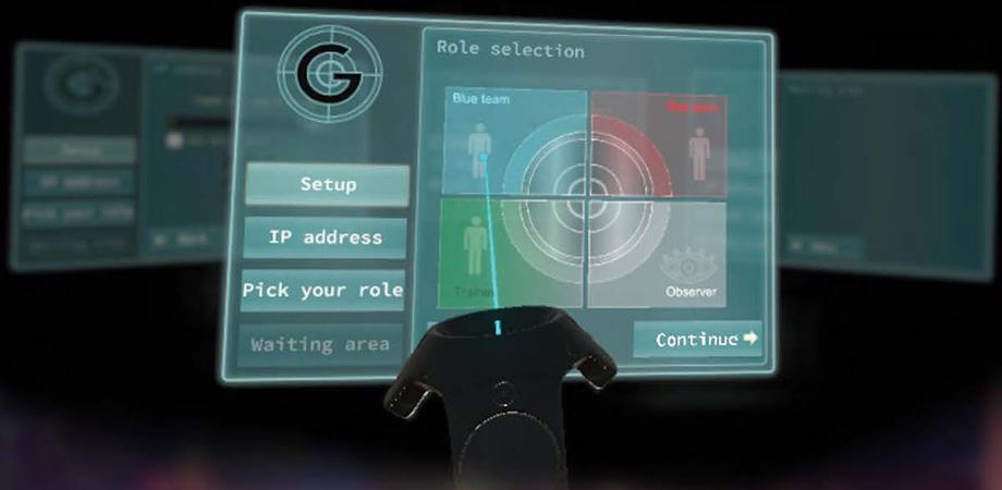 In-VR user interface