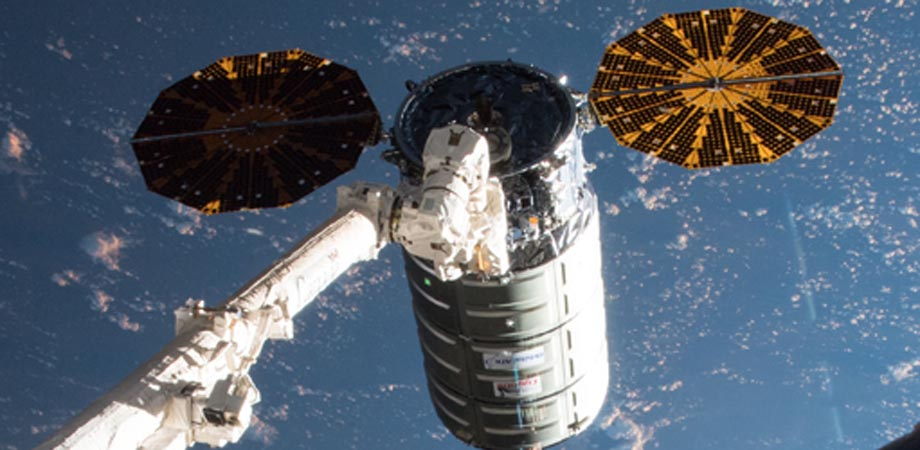 Laser equipment for cooling atoms in space arrived at the ISS in July 2018 on board a Cygnus supply vehicle