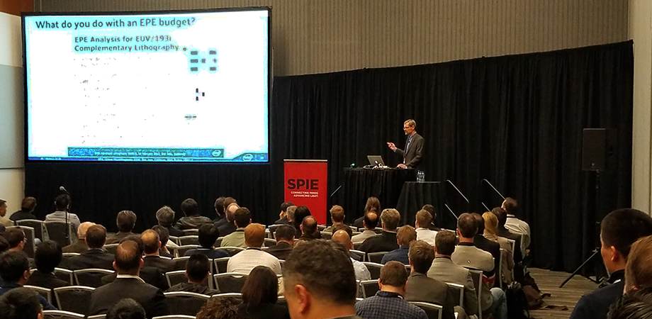 Mark Phillips presents to a full audience at SPIE Advanced Lithography 2019