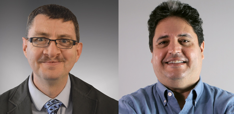 FOR THEY ARE JOLLY GOOD FELLOWS: John Dudley, left, and Zouheir Sekkat are among the 2020 cohort of SPIE Fellow Members.