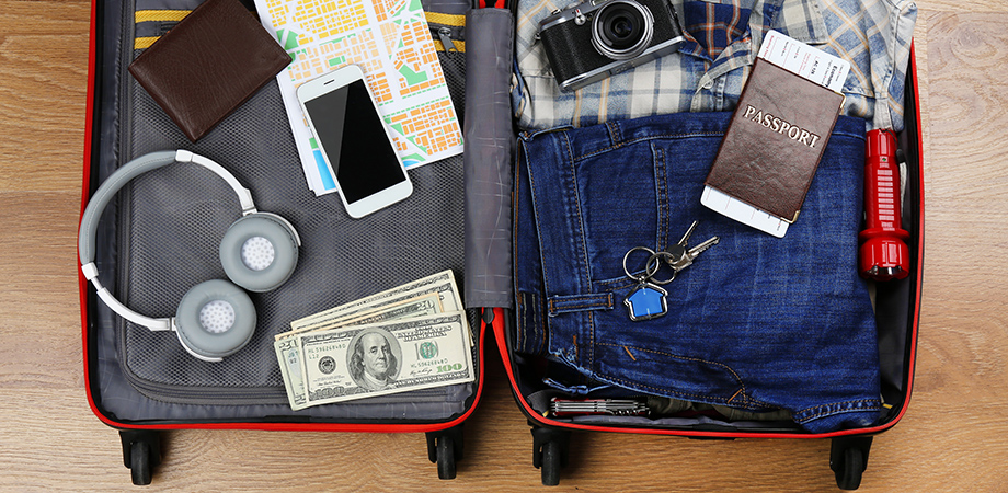 Stock image of suitcase
