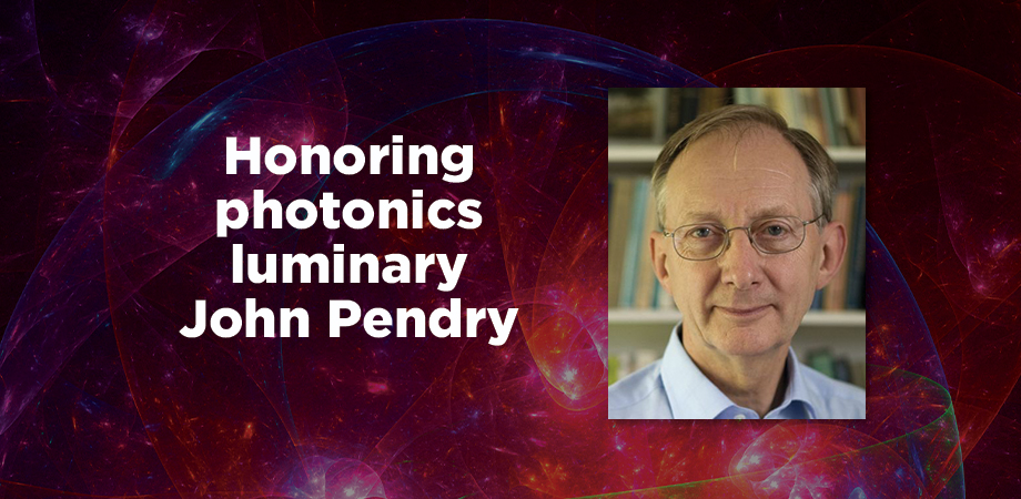 SPIE Luminary John Pendry recognized for his work in photonics