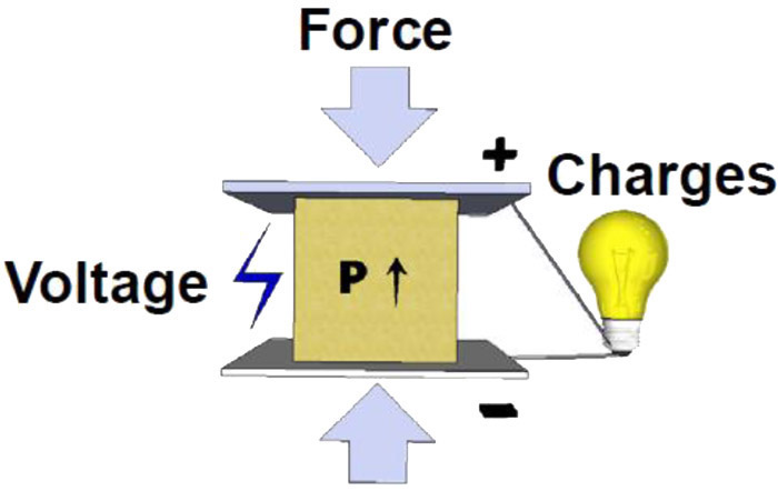 Figure 1. Illustration of the piezoelectric (P) transduction technique ...
