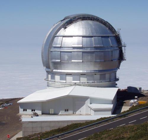 Телескоп-гигант Gran Telescopio Canarias