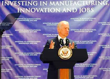 Vice President Biden in Rochester, 27 July 2015. SPIE photo