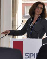 Ursula Keller, ETH Zurich, speaks to the Fellows Lunch at SPIE Photonics Europe