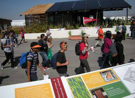Student groups toured the 2013 Solar Decathlon