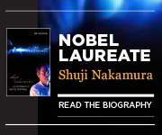 Read the biography of Shuji Nakamura, winner of the Nobel Prize in Physics