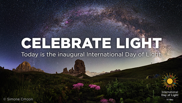 SPIE celebrates the first International Day of Light on May 16, 2018