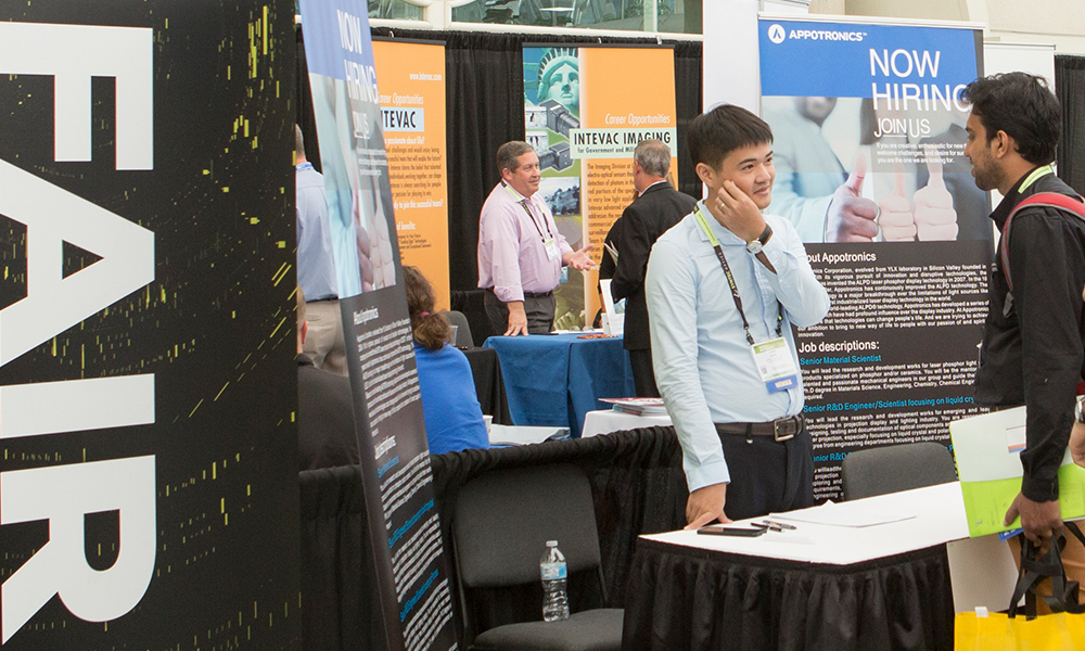 Attendees of Job Fair at SPIE Optics and Photonics