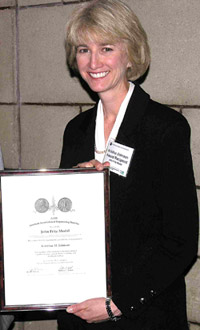 Dr. Kristina Johnson of Johns Hopkins, recipient of the John Fritz Medal in 2008.