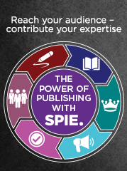 Your Readers are Waiting. Publish with SPIE. Learn more.